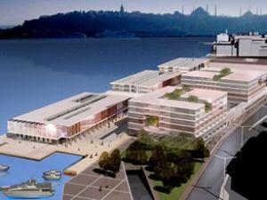 Galataport denize taştı kıyıda koruma kalkıyor