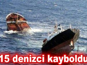 Kang Bong isimli kargo gemisi battı