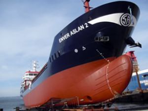 Enver Aslan 2 gemisi denize indirildi