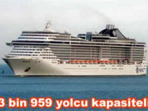 MSC Splendida, Marmaris Limanı'na geldi