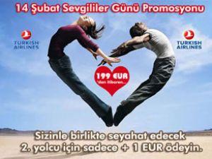 THY ile Sevgililer Günü'nde 1 Euro'ya uçun