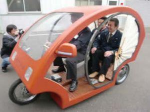 """Japonlar'dan üç tekerlekli """"Meguru"""" aracı"""
