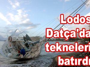 Datça'da lodos nedeniyle iki tekne battı