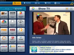 Turkcell ile iPad, televizyon oldu