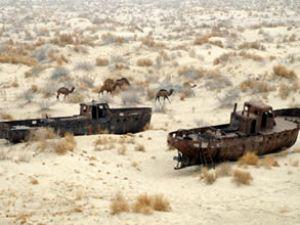 Dünyanın 4. büyük gölü Aral, çölleşiyor