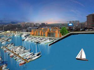 Samsun'da yat limanı inşaatı devam ediyor