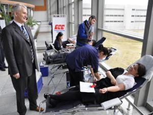 TGS'lilerden Kızılay'a taze kan bağışı