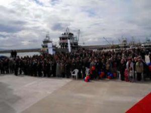 Babakale Balıkçı Barınağı törenle açıldı