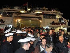 İDO'nun feribotları Marmaris Limanı'nda