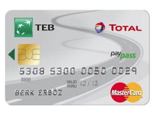 TEB TOTAL Card ile akaryakıt indirimli