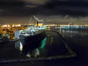 Cunard yolcu gemilerinden soylu buluşma