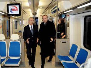 İzmir raylı sistemi törenle hizmete açıldı