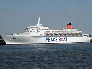 Barış gemisi, Kuşadası Limanı'na geldi