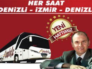 Anadolu Ulaşım'dan Denizli-İzmir hattı