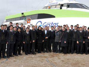 Denizci öğrencilerden GESTAŞ'a ziyaret