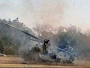 Bursa'da özel bir helikopter düştü