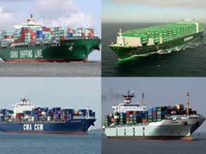 Gemiler Uzak Doğu ve Avrupa rotasında