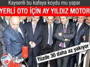 Türk malı otomotiv için ay yıldızlı motor