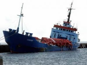 Sinop'ta Condor1 adlı yük gemisi yan yattı