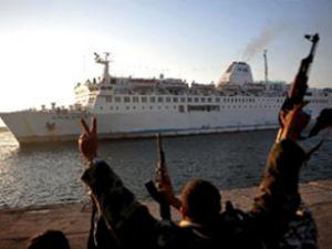 Ankara feribotu Mısır'a doğru yola çıktı