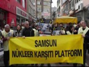 Samsun'da Nükleer Santrallere hayır eylemi