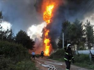 Petrol boru hattında patlama oldu