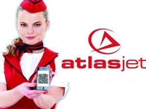 """Atlasjet'ten sektöre yenilik: """"2D Barkod"""""""
