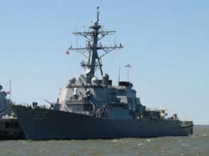 ABD savaş gemisi USS Stout Bodrum'da