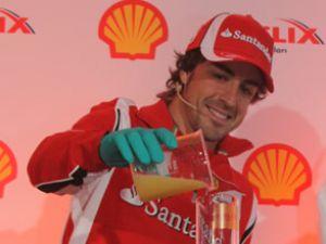 Alonso'dan özel Shell Helix Ultra kokteyli