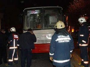 Beyoğlu'nda İETT otobüsüne saldırı