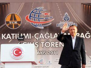Erdoğan, Çağlayan bağlantı yolunu açtı