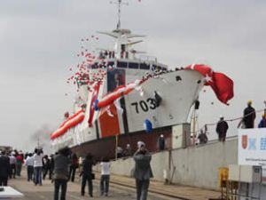 """""""TCSG UMUT"""" törenle denize indirildi"""