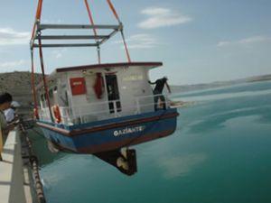 Gaziantep teknesi Birecik'te hizmete girdi