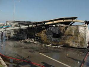 Giresun'da feci kaza: 10 kişi yanarak öldü