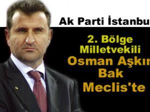 Ak Parti milletvekili Osman Bak mecliste