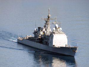 Monterey savaş gemisi Batum Limanı'nda