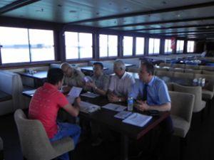 Samsun'da gemi adamları sınavı yapıldı