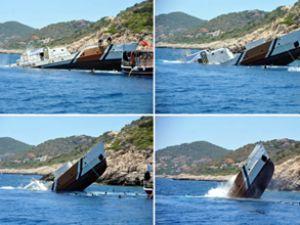 Sahil Güvenlik botu turizm için batırıldı