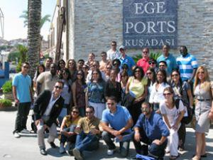 ABD'li öğrenciler Ege Ports'a hayran kaldı