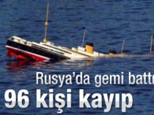 Volga nehrinde gemi battı: 96 kişi kayıp