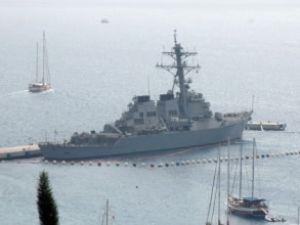 USS Masson gemisi Bodrum'a yanaştı