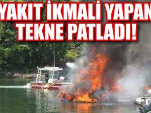 ABD'de yakıt ikmali yapan tekne patladı!