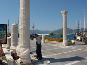 Marmaris Yat Limanı'na antik dekorasyon