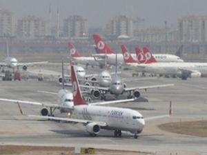 Uçak trafiği İstanbul trafiğini aratmıyor