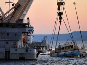 Batan Bulgaria gemisi yüzeye çıkarılıyor