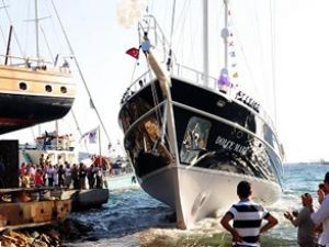 'Dolce Mare' Bodrum'da denize indirildi