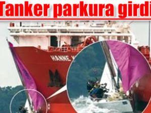 Dev tanker yarış parkuruna girdi: 1 yaralı