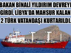 Seren Ayanoğlu gemisi iki Türk'ü kurtardı