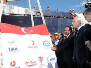 Ambarlı Limanı'nda yardım töreni yapıldı