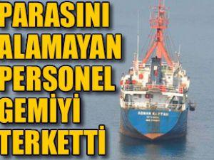 Adnan Kaptan gemisi limanda terkedildi